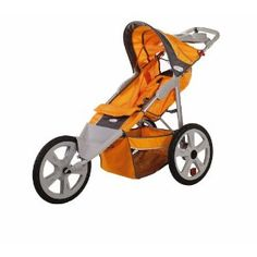InStep Flash Fixed Wheel Jogger- best 5 single jogging stroller for runners with safety Baby Jogger Stroller, Best Baby Strollers, Single Stroller, Orange Grey, Gray, Baby Essentials, Tandem, Diy Baby, Shopping Hacks