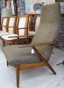 Designer Teak Lounge Chair! Mid-Century Modern! - $795.00 (not including foot stool)