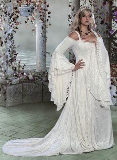 Gwendolyn mittelalterliche samt und Spitze Hochzeit Kleid Custom