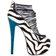 Crush - Zebra by London Trash... holy zebra they're high - and totally awesome?!