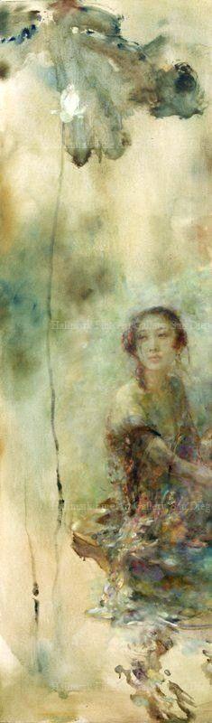 Hu Jundi (1962). Pintor chino http://historiayarteamimanera.blogspot.com.es/2016/10/hu-jun-di-1962-jilli-china.html