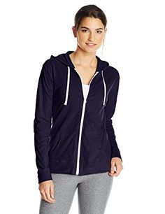 Hanes Womens Lt Weight Layers Hoodie, Hanes Navy, Large