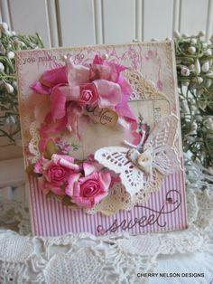 shabby butterfly card-