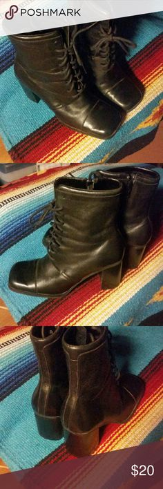 Ladies fashion boots Ladies lace up black boots Shoes Ankle Boots & Booties