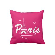 Paris Eiffel Tower Girly Cute Statement Throw Pillow ($33) ❤ liked on Polyvore featuring home, home decor, throw pillows, parisian home decor, eiffel tower home decor, paris france home decor, paris throw pillows and paris home decor