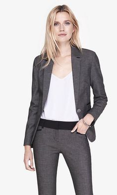 24 Inch One Button Jacket | Express
