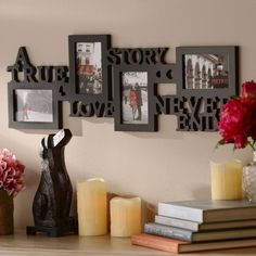KNL Store A True Love Story Never Ends 4 Picture Opening Black Collage Photo Frame V-day Wedding Anniversary Newlywed Gift Family Collage, Collage Picture Frames, Frames On Wall, Collage Photo, Best Anniversary Gifts, Wedding Anniversary, Anniversary Cards, True Love Stories, Love Story