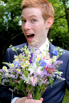 The Groom and Bouquet!