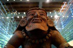 Museo de Sitio de Copalita. Una escultura en barro de un hombre viejo destaca dentro de la colección del museo del sitio arqueológico de Bocana del Río Copalita, Oaxaca, frontera de los señoríos mixteco y zapoteco durante los primeros siglos de nuestra era.