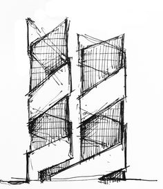 Architectural Sketches part 1 on Behance