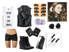 """""""Training the new Maya Hart"""" by alexaluc13 ❤ liked on Polyvore featuring H&M, Forever 21, Marc by Marc Jacobs and Eos"""