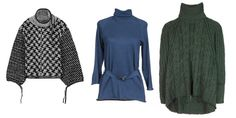 Rag & Bone Ava Oversized Turtleneck Pullover ($1195) via Rag & Bone; Gucci Cashmere-Blend Turtleneck ($597) via Yoox; Ralph Lauren Wool and Silk-Blend Turtleneck ($704) via mytheresa