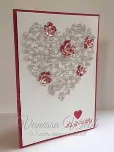 Stampin' Up! Bloomin Love Stampin Up, Valentine Love Cards, Stamping Up Cards, Heart Cards, Flower Cards, Creative Cards, Anniversary Cards, Greeting Cards Handmade, Homemade Cards