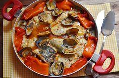 Merluza en salsa de pimientos | Comparterecetas.com