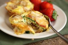 Barefeet In The Kitchen: Cheesy Potato Egg and Spinach Mini Quiches