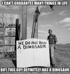 I can't guarantee many things in life but this guy definitely has a dinosaur