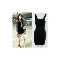 2014 New Fashion Women's Bodycon Sleeveless Long Tank T-Shirt Tops... (19 HKD) via Polyvore