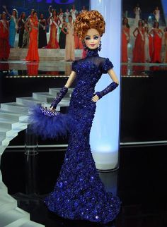 Barbie Miss Kaliningrad by Ninimomo Dolls Barbie Miss, Barbie And Ken, Barbie Gowns, Barbie Clothes, Manequin, Diva Dolls, Himmelblau, Glamour, Sheego