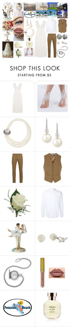 """Summer Beach Wedding In Pensacola"" by bethnjulia ❤ liked on Polyvore featuring Temperley London, Miu Miu, Belpearl, Paul Smith, Polo Ralph Lauren, Cerruti 1881, Lanvin, Bulova, LASplash and Perrier-JouÃ«t"