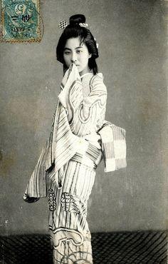 Geiko postcard 1900s