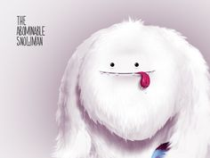 Abominable Snowman designed by Savman. Yeti Bigfoot, Snow Monster, Monster Drawing, Snow Cones, Window Art, Doll Toys, Gemini, Illustrators, Snowman