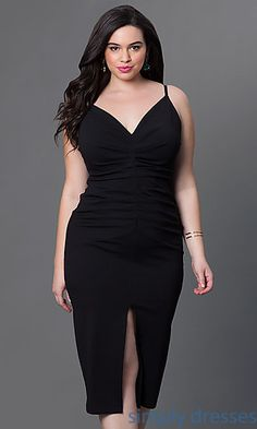 Shop sexy plus-size cocktail dresses and homecoming dresses at Simply Dresses. Ruched plus-size party dresses with v-necks under $100.