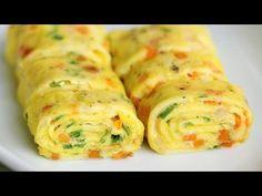Enroladinho de ovos recheado com legumes: veja como preparar - Bolsa de Mulher