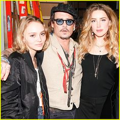 Johnny Depp Helps Stella McCartney Present at LA Fashion Show with Amber Heard & Daughter Lily-Rose!