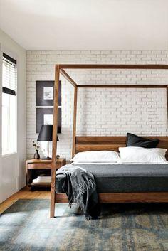 Hale Wood Himmelbett - Hale Bed - Betten - Schlafzimmer - Room & Board Source by k Modern Canopy Bed, Wood Canopy Bed, Canopy Bed Frame, Canopy Beds, Wooden Canopy, Modern Beds, Fabric Canopy, Tree Canopy, Wood Beds