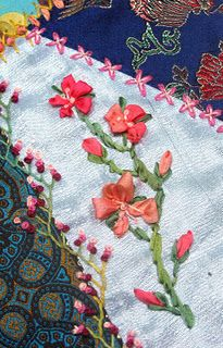 Crazy Quilting - silk ribbon embroidery