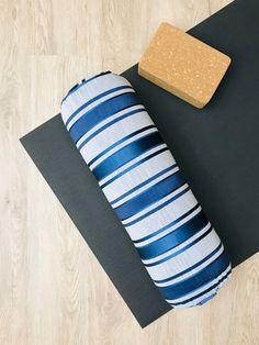 YOGA BOLSTER | Restorative Yoga Pillow | Blue Grey Stripe | Removable Cover | Home Yoga Prop | YOGA Room Decor | Round Yoga Cushion Restorative Yoga, Yoga Room Decor, Yoga Bolster, Yoga Props, Yoga Nidra, Mindfulness Practice, Yin Yoga, Room Decorations, Asana