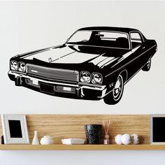 Awesome Retro Car Wall Sticker