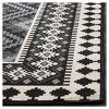 """Nadir Indoor/Outdoor Accent Rug - Black/Creme (2'7""""x5') - Safavieh : Target Entryway Runner, Indoor Outdoor Rugs, Outdoor Decor, Construction Crafts, Washable Rugs, Accent Rugs, Rug Material, Rectangle Shape, Woven Rug"""