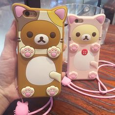 Cute brown bear baby and pink bear baby mobile phone case for iPhone 7 7 plus iphone 5 5s SE 6 6s 6Plus 6S Plus+ Nice gift box!
