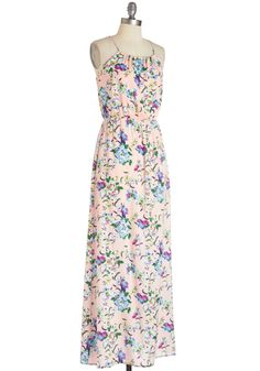Keep It Cool Tones Dress. Youll find that keeping a cool style is effortless in this breezy, pale peach maxi.  #modcloth