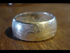 Curling the Edges of a Coin Ring without a Ring Press - YouTube