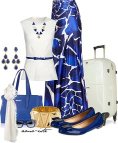 """""""Leaving on a jet plane"""" by amo-iste on Polyvore. Awesome skirt!"""