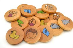 Waldorf Wooden Memory Game  Peter and the Wolf by BrightLifeToys, $17.00