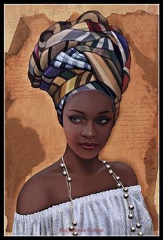 African in White - Counted Cross Stitch Patterns - Printable Chart PDF Format Needlework Embroidery Crafts DIY DMC color Natural Hair Art, Natural Hair Styles, Logo Color Schemes, African Wedding Attire, Make Your Own Logo, Black Women Art, Black Art, Black White, Dmc Floss