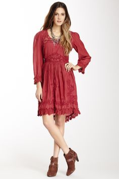 Free People Montana Embroidered Crinkle Dress on HauteLook