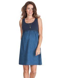 Vestido algodón/tejano. Unidos 2015