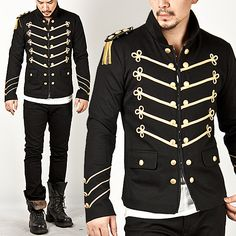 Runway Lux Gold Embroidery Napoleon Jacket - 58