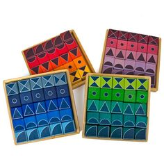 Geo Graphical Building Blocks (Set of 4)  Grimms Spiel und Holz Design  CSH10135    Price: $125.00