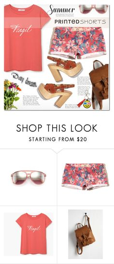 """Prints Charming: A Shorts Story ^TS"" by rosie305 ❤ liked on Polyvore featuring Wildfox, Hollister Co., MANGO, Rebecca Minkoff and printedshorts"