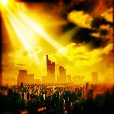 burning city /