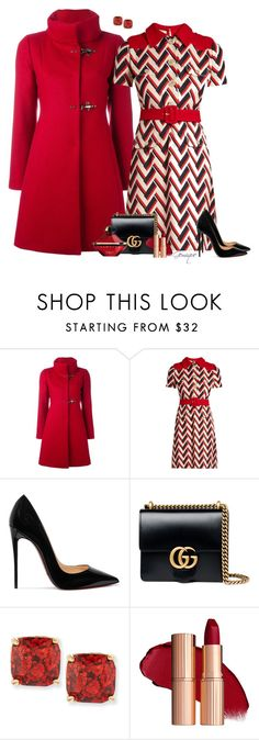 """""""Dress Warm"""" by gemique ❤ liked on Polyvore featuring FAY, Gucci, Christian Louboutin, Kate Spade and Guerlain"""