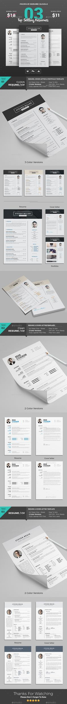 Resume Template Psd Word Download Here HttpGraphicriverNet