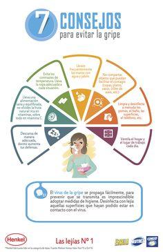 Infografía: 7 Consejos para evitar la gripe - Prevencionar, tu portal sobre prevención de riesgos laborales.