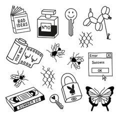 Grunge Tattoo, Kritzelei Tattoo, Doodle Tattoo, Poke Tattoo, Flash Art Tattoos, Body Art Tattoos, Mini Tattoos, Small Tattoos, Cool Tattoos