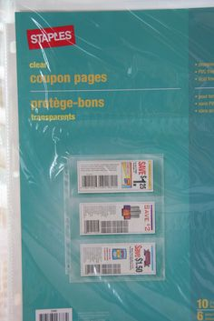 simply organized: it's the little things - Staples coupon pages wonder if they sell anywhere else? Couponing 101, Extreme Couponing, Homemade Books, Budget Organization, Organizing Tips, Coupon Stockpile, Banner, Household Budget, Star Wars